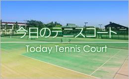 今日のテニスコート