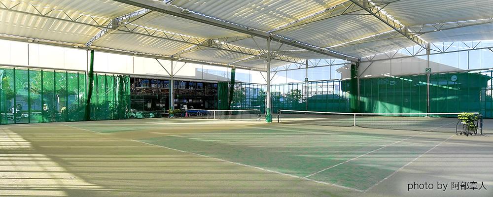 高松ローンテニススクールの全天候型テニスコート